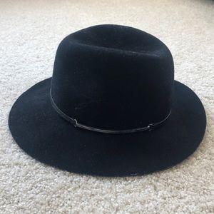 e6303eaed Janessa Leone Accessories | Womens Peyton Fedora Hat Wool Black ...